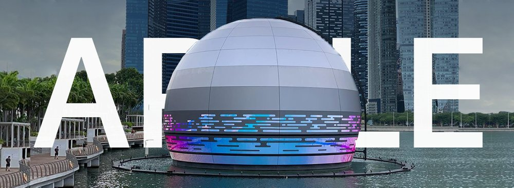 Floating Apple Store in Singapore