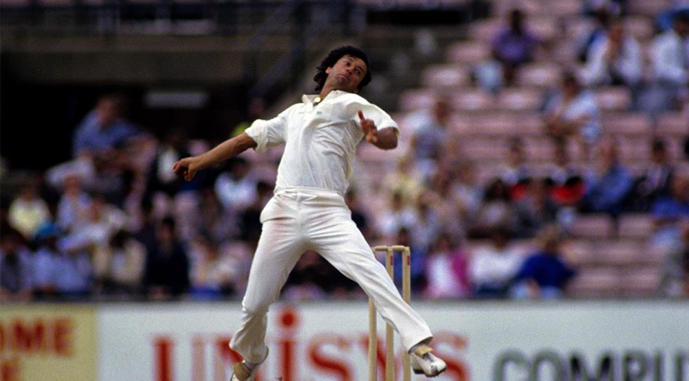 Imran Khan Bowling at a Test Match