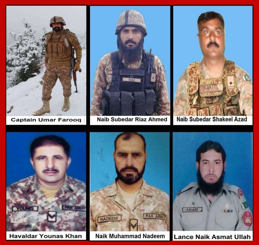 6 Army Personnel Embraced Martydom